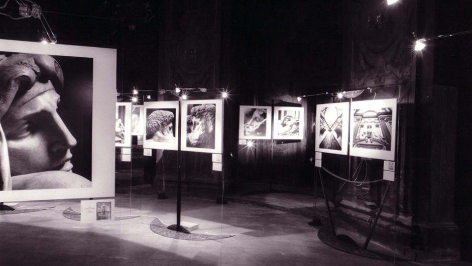 Allestimento mostra 'Aurelio Amendola, fotografo - Michelangelo', Praga, Repubblica Ceca